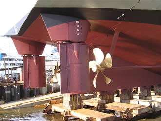 Upgrading the rudder and propellor